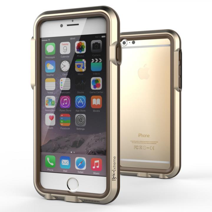 耐衝撃アルミバンパー BricWave Extreme ゴールド/ブラウン iPhone 6