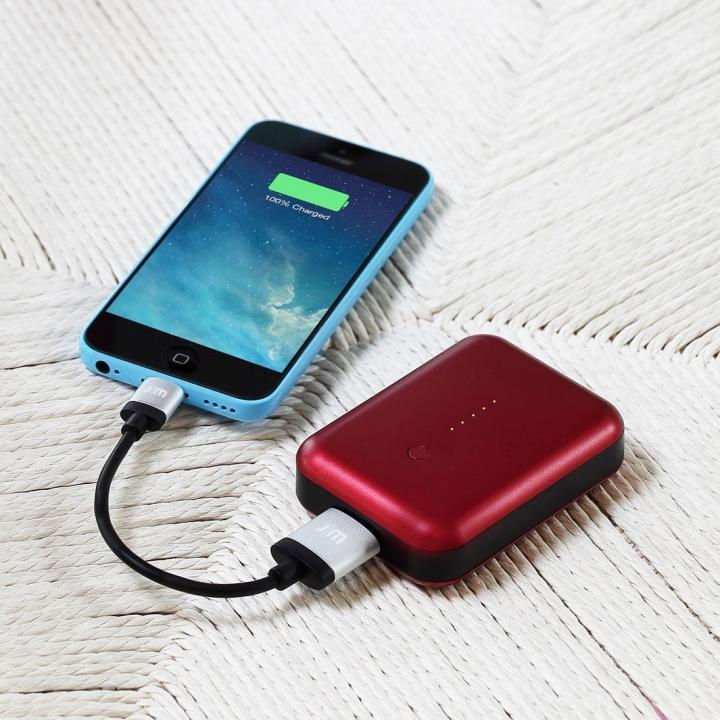 最大2.5A出力 アルミニウムバッテリー Just Mobile Gum++ Aluminum レッド 送料無料