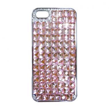 カスタムカバーiPhone5クリスタル(ピンクダイヤ)