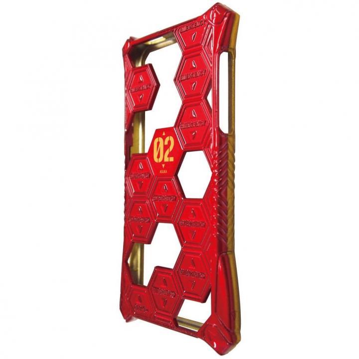 エヴァンゲリヲン新劇場版 iPhone SE/5s/5対応スケルトンカバー メタルレッド×メタルイエロー