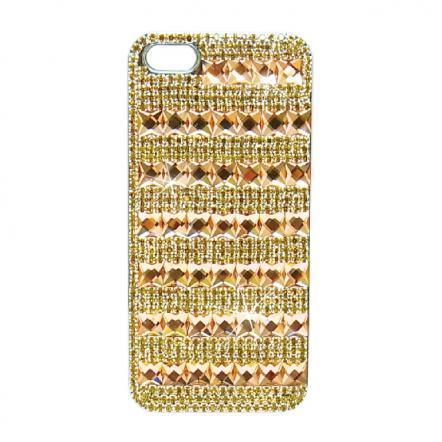 カスタムカバーiPhone5クリスタル(Pベージュボーダー)