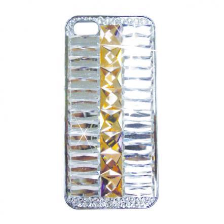 カスタムカバーiPhone5クリスタル(ピンクベージュライン)