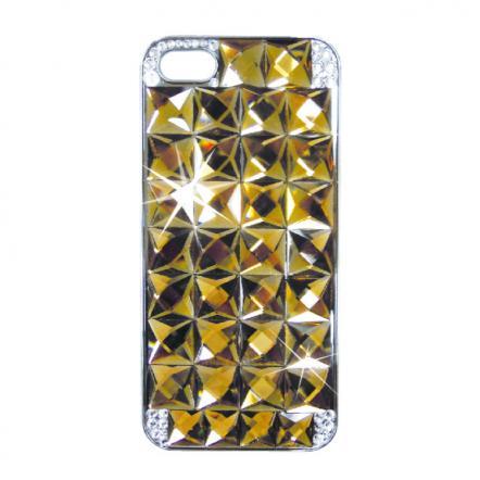 カスタムカバーiPhone5クリスタル(ゴールドダイヤ)