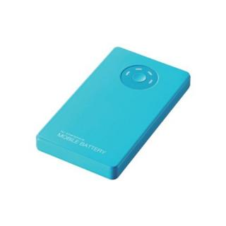 [3000mAh]エレコム モバイルバッテリー ブルー