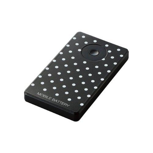 エレコム モバイルバッテリー 3000mAh (ドット)