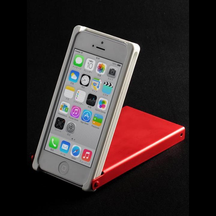 iPhone SE/5s/5 ケース ヌンチャクケース Trick Cover アルマイト 白-赤 iPhone SE/5s/5ケース_0