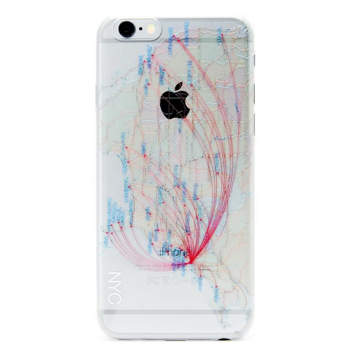 【iPhone6ケース】modref ニューヨーク 航空機ルートケース iPhone 6_0
