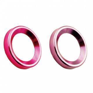 カメラレンズ保護 iCamera PROTECTOR ピンク+レッド iPhone 6s Plus/6 Plus