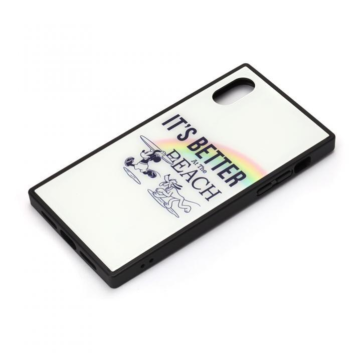 iPhone XS/X ケース ディズニー ガラスハイブリッドケース ミッキーマウス/ホワイト iPhone XS/X_0