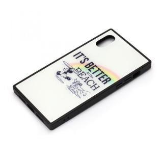 iPhone XS/X ケース ディズニー ガラスハイブリッドケース ミッキーマウス/ホワイト iPhone XS/X