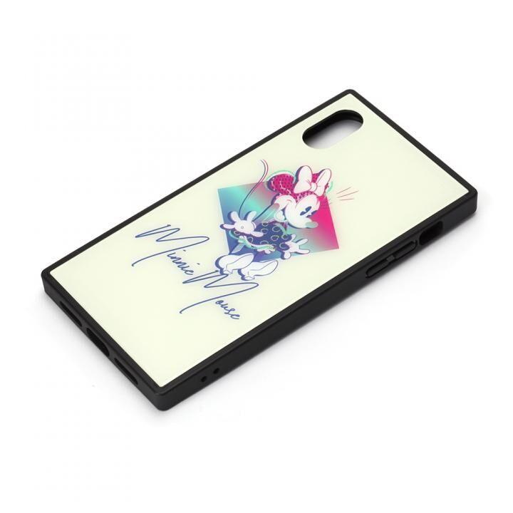 iPhone XS/X ケース ディズニー ガラスハイブリッドケース ミニーマウス iPhone XS/X_0