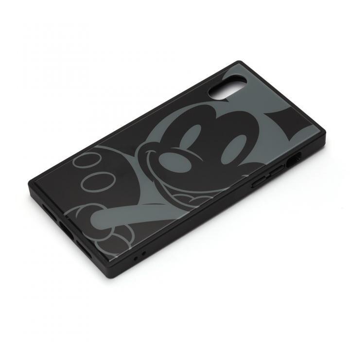 iPhone XR ケース ディズニー ガラスハイブリッドケース ミッキーマウス/ブラック iPhone XR_0