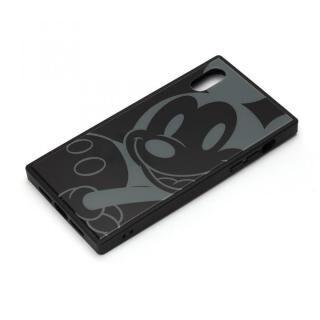 iPhone XR ケース ディズニー ガラスハイブリッドケース ミッキーマウス/ブラック iPhone XR【4月上旬】