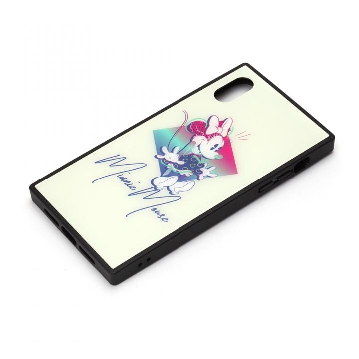 iPhone XR ケース ディズニー ガラスハイブリッドケース ミニーマウス iPhone XR【4月下旬】_0
