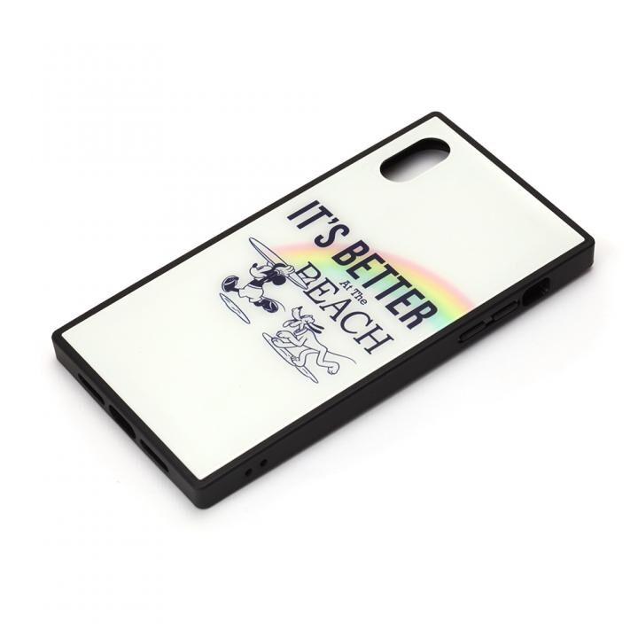 iPhone XR ケース ディズニー ガラスハイブリッドケース ミッキーマウス/ホワイト iPhone XR_0