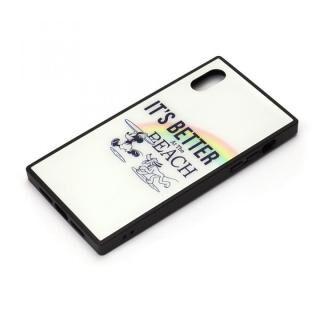iPhone XR ケース ディズニー ガラスハイブリッドケース ミッキーマウス/ホワイト iPhone XR