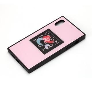 iPhone XR ケース ディズニー ガラスハイブリッドケース アリエル iPhone XR