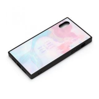 iPhone XR ケース ディズニー ガラスハイブリッドケース アリエル&セバスチャン iPhone XR