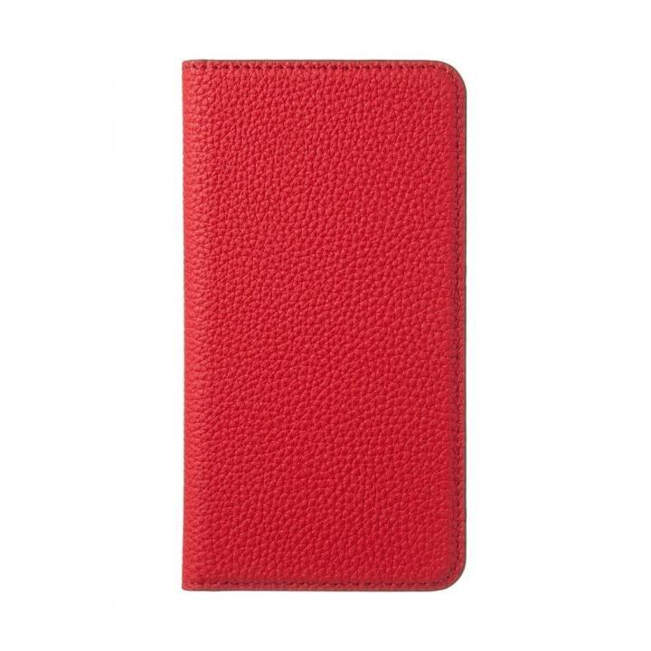 iPhone XS ケース LORNA PASSONI German Shrunken Calf 手帳型ケース Red iPhone XS【9月中旬】_0