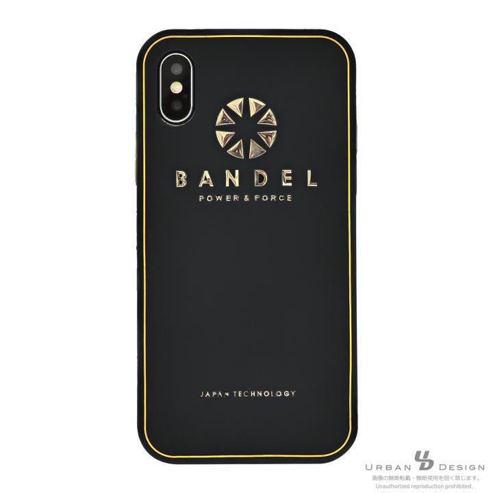 iPhone X ケース BANDEL シリコンケース ロゴ  ブラック/ゴールド iPhone X_0