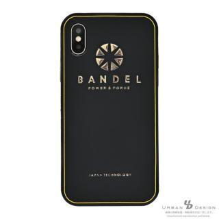 iPhone X ケース BANDEL シリコンケース ロゴ  ブラック/ゴールド iPhone X