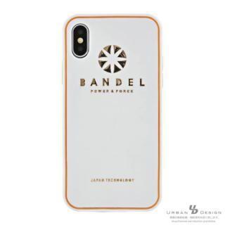BANDEL シリコンケース ロゴ  ホワイト/ゴールド iPhone X
