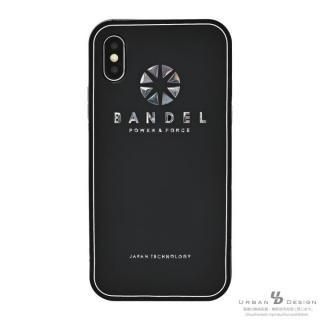 BANDEL シリコンケース ロゴ  ブラック/シルバー iPhone X