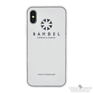 BANDEL シリコンケース ロゴ  ホワイト/シルバー iPhone X