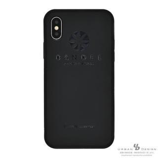 BANDEL シリコンケース ロゴ  ブラック/ブラック iPhone X