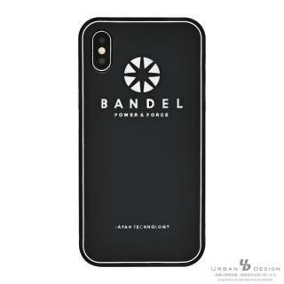 BANDEL シリコンケース ロゴ  ブラック/ホワイト iPhone X