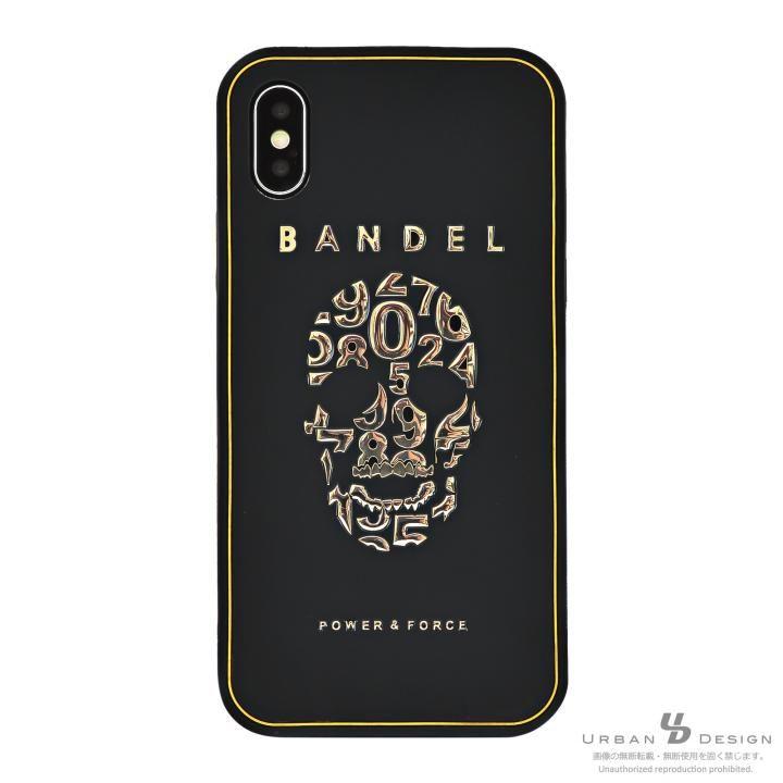 【iPhone Xケース】BANDEL シリコンケース スカル ブラック/ゴールド iPhone X_0