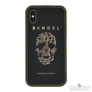 iPhone X ケース BANDEL シリコンケース スカル ブラック/ゴールド iPhone X