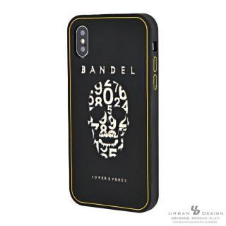 【iPhone Xケース】BANDEL シリコンケース スカル ブラック/ゴールド iPhone X_1