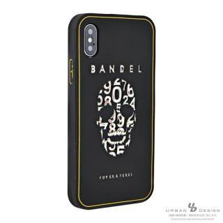 【iPhone Xケース】BANDEL シリコンケース スカル ブラック/ゴールド iPhone X_2