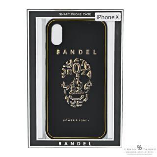 【iPhone Xケース】BANDEL シリコンケース スカル ブラック/ゴールド iPhone X_7
