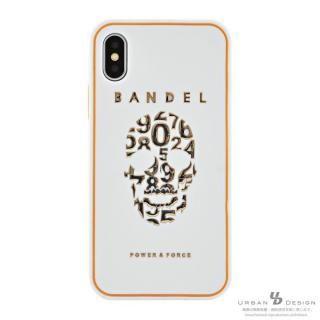 BANDEL シリコンケース スカル ホワイト/ゴールド iPhone X