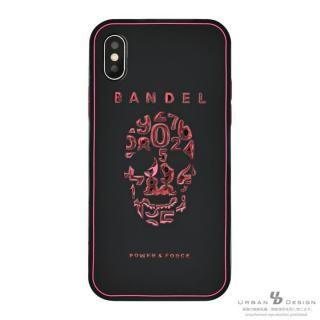 BANDEL シリコンケース スカル ブラック/ピンク iPhone X