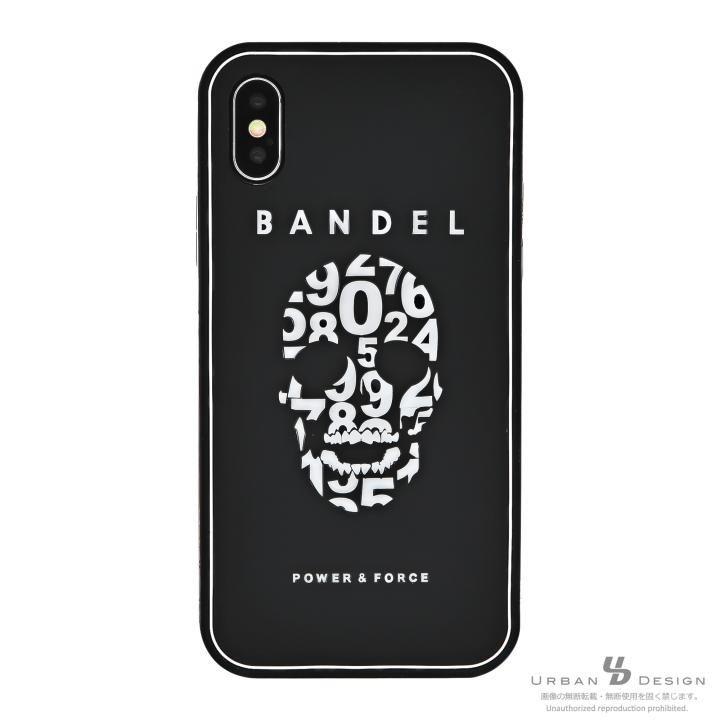 iPhone X ケース BANDEL シリコンケース スカル ブラック/ホワイト iPhone X_0