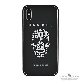 BANDEL シリコンケース スカル ブラック/ホワイト iPhone X