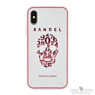 BANDEL シリコンケース スカル ホワイト/ピンク iPhone X