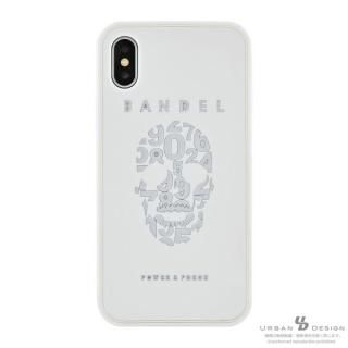 BANDEL シリコンケース スカル ホワイト/ホワイト iPhone X