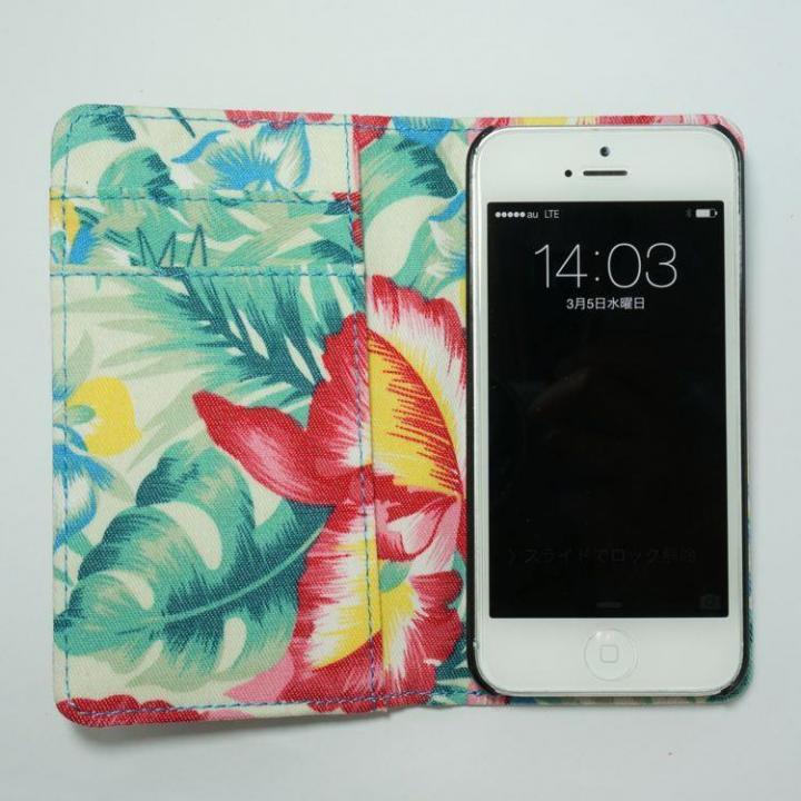 【LGT】iPhone5/5sケース ベージュ(花柄)