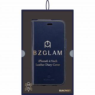 【iPhone6ケース】BZGLAM レザー手帳型ケース ネイビー iPhone 6_6