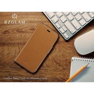 【iPhone6ケース】BZGLAM レザー手帳型ケース ネイビー iPhone 6_8