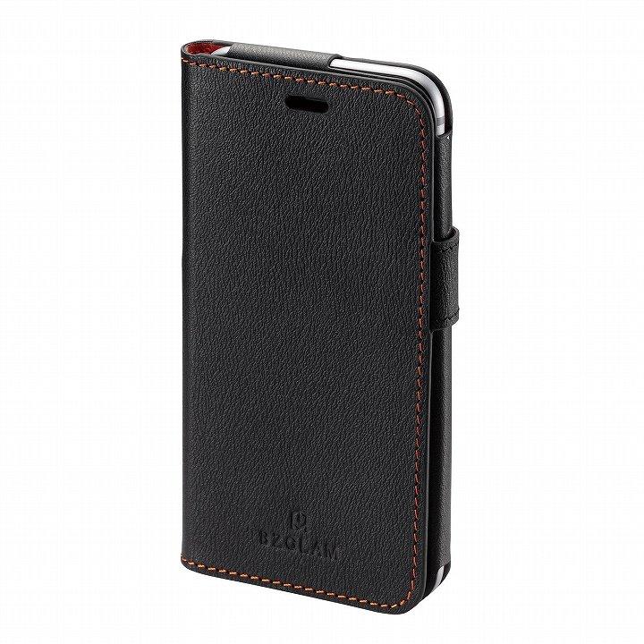 iPhone6 ケース BZGLAM レザー手帳型ケース ブラック iPhone 6_0