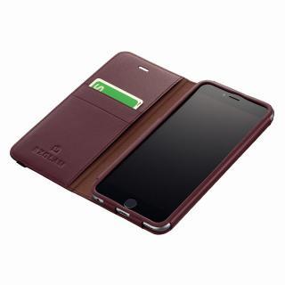 BZGLAM レザー手帳型ケース バーガンディ iPhone 6s Plus/6 Plus