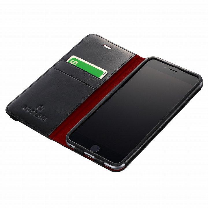 BZGLAM レザー手帳型ケース ブラック iPhone 6 Plus