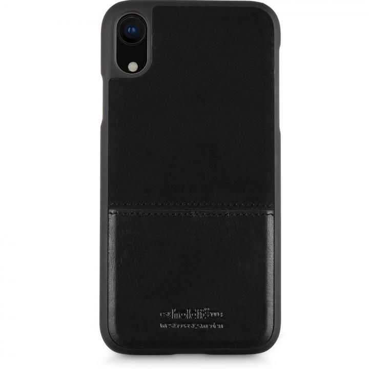 iPhone XR ケース Kasa 本革ハードケース ブラック iPhone XR【4月下旬】_0
