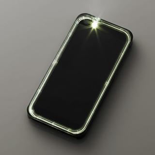 iPhone SE/5s/5用シャイニングケース/クリアブラック