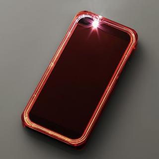 iPhone SE/5s/5用シャイニングケース/クリアレッド